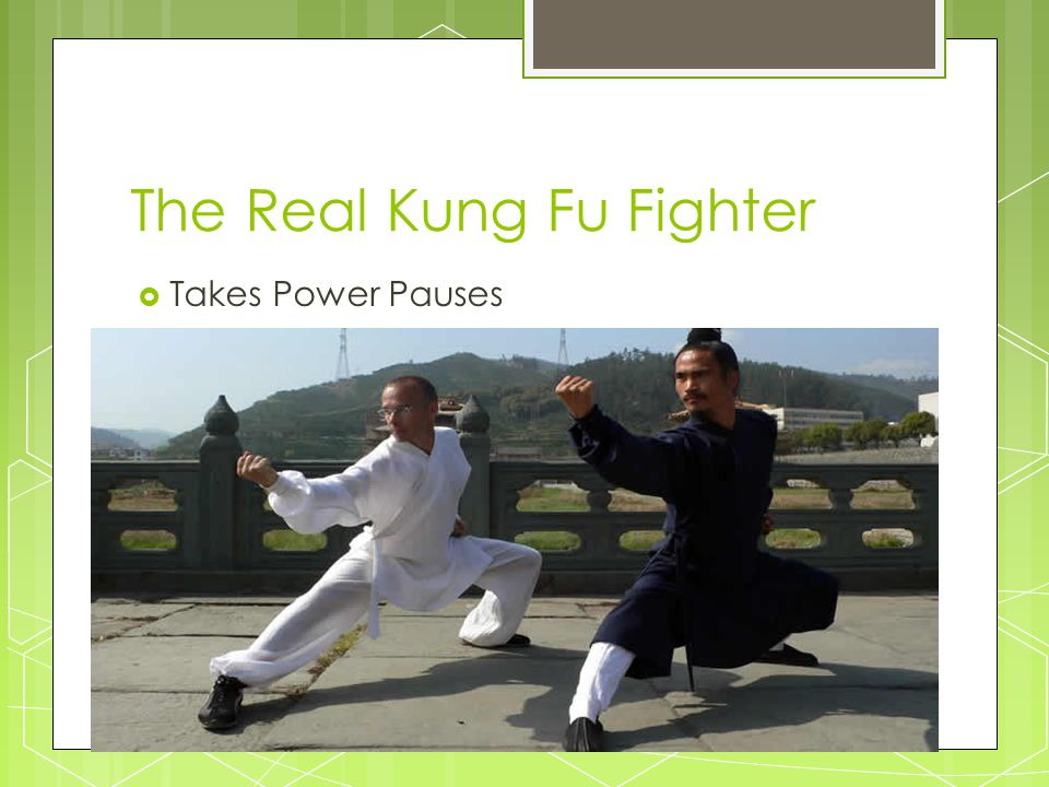 The Real Kung Fu Fighter  Takes Power Pauses