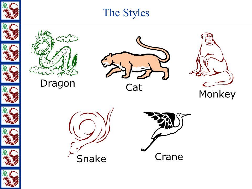 The Styles Dragon Monkey Snake Crane Cat