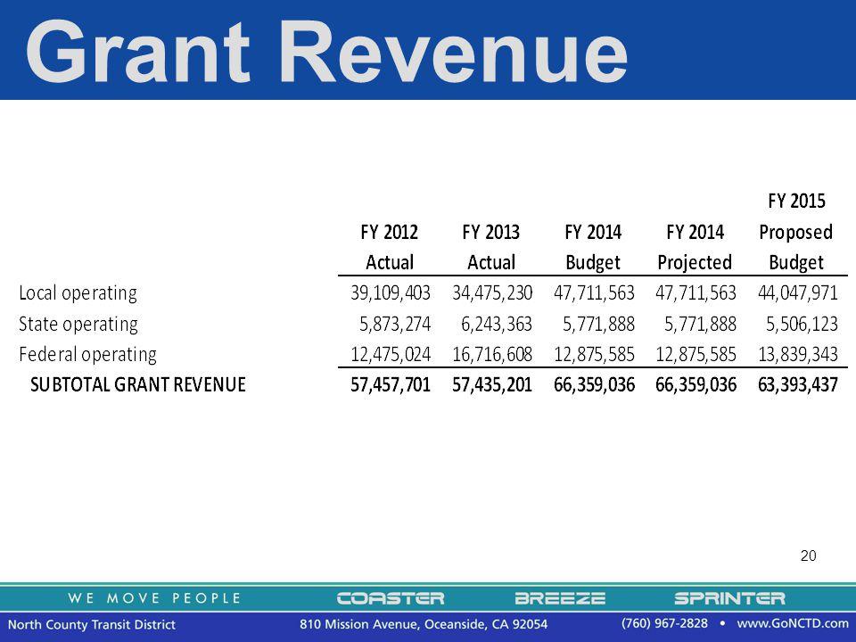 20 Grant Revenue