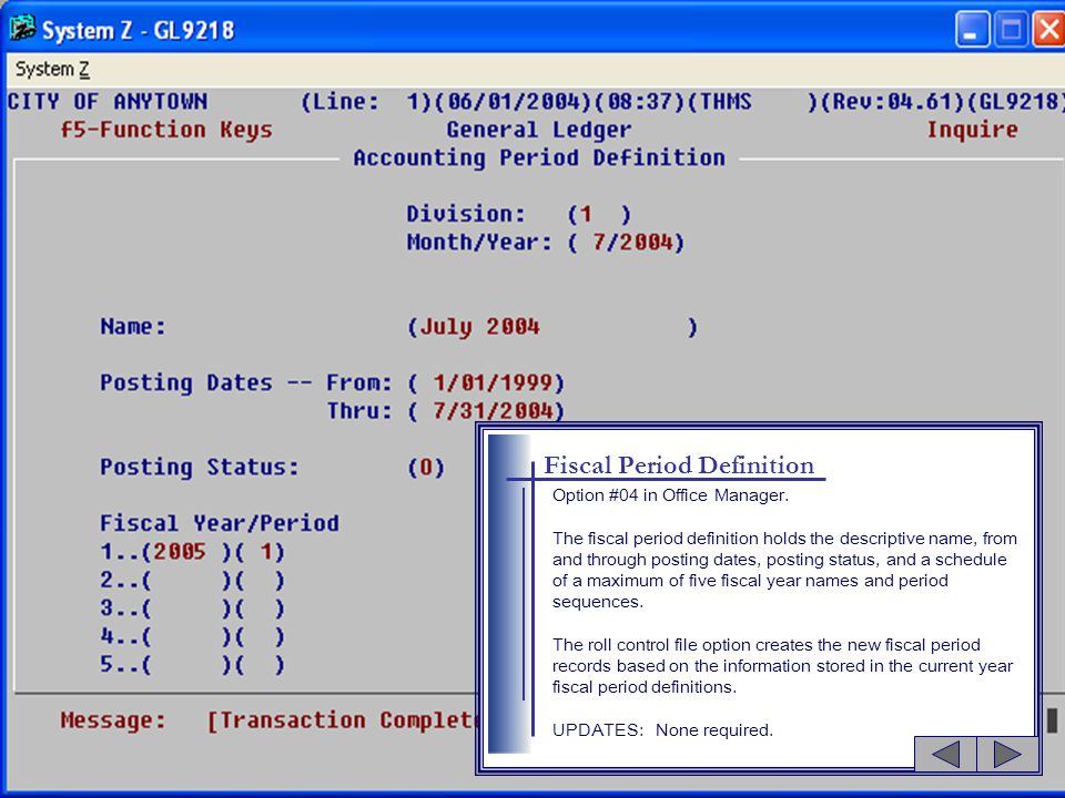 Account Structure Option #05 in Office Manager.