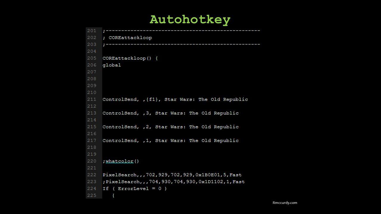 Autohotkey Rmccurdy.com