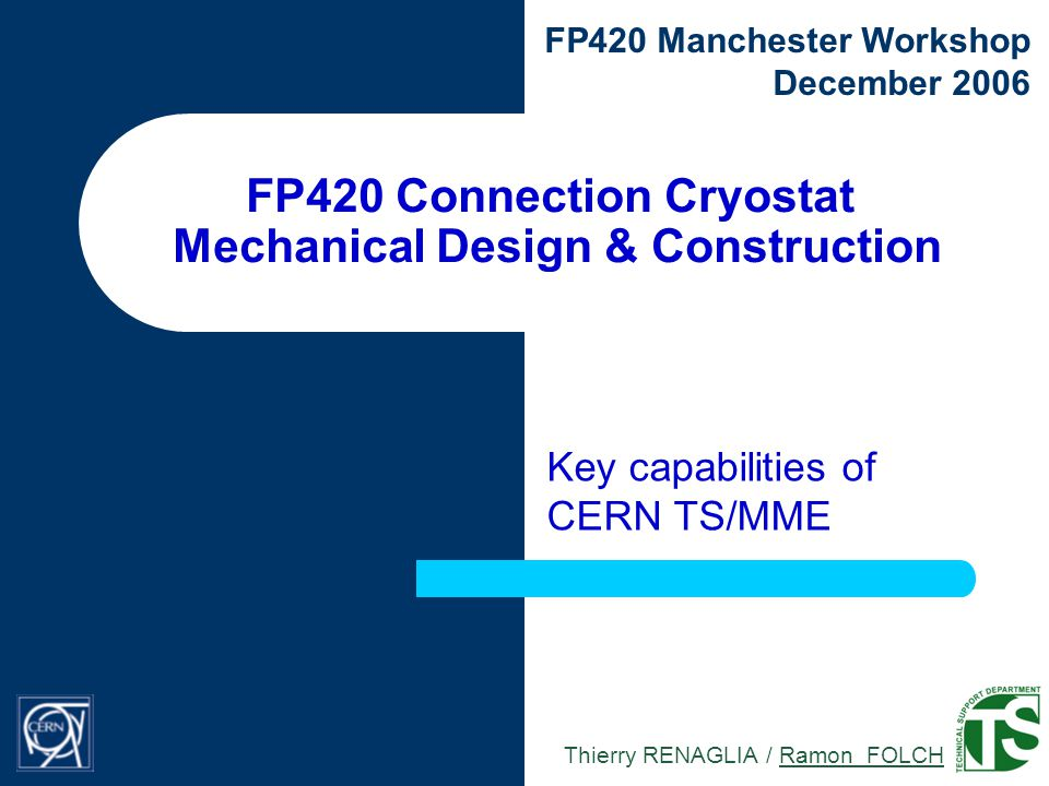 12 / 23 FP420 Connection Cryostat FP420 Manchester Workshop - December 2006 Schedule projection attempt Green light needed on time to allow the design work to start The production cannot start before the design is fully approved