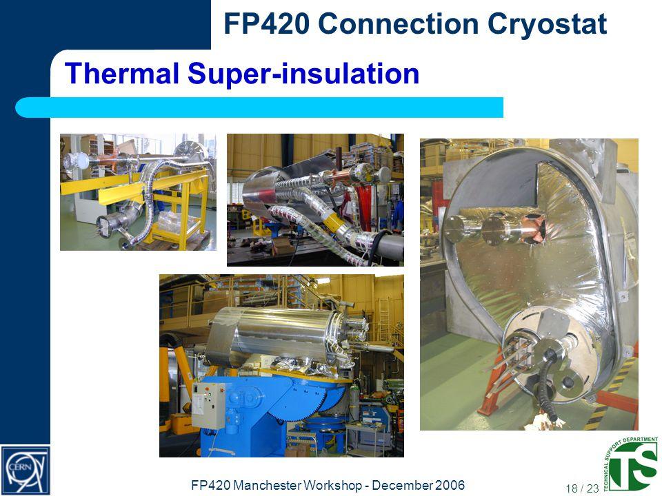 18 / 23 FP420 Connection Cryostat FP420 Manchester Workshop - December 2006 Thermal Super-insulation