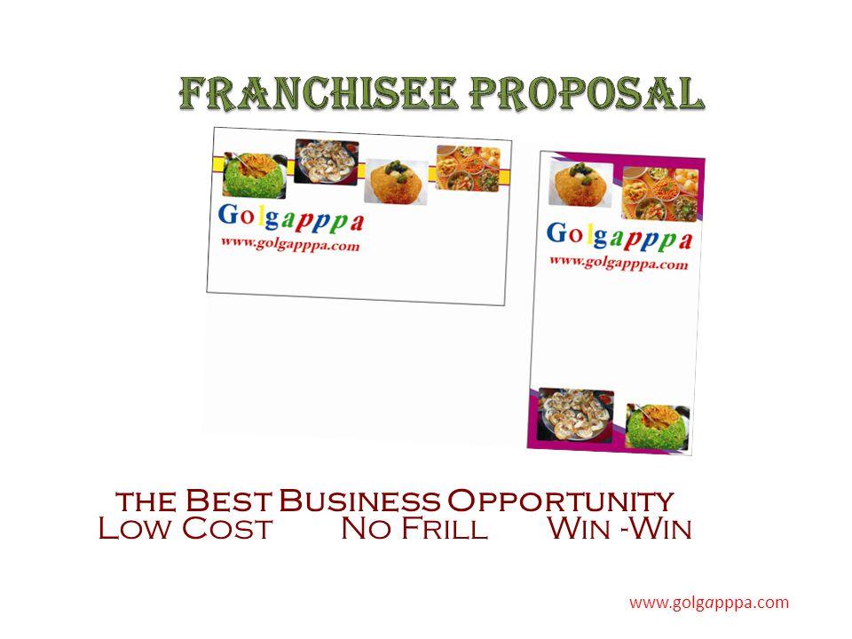the Best Business Opportunity Low Cost No Frill Win -Win www.golgapppa.com