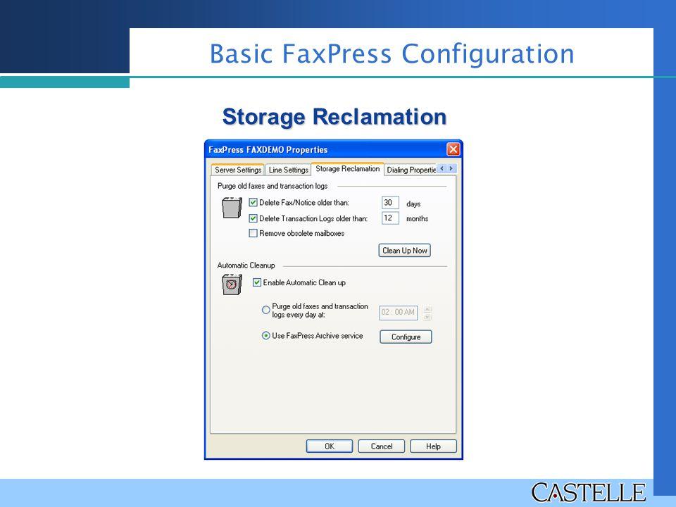 Storage Reclamation