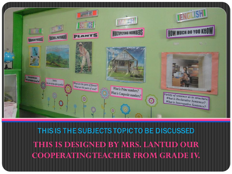 THERE IS A LOT OF BULLETIN BOARD DISPLAYED AROUND THE CORNER OF THE SCHOOL.