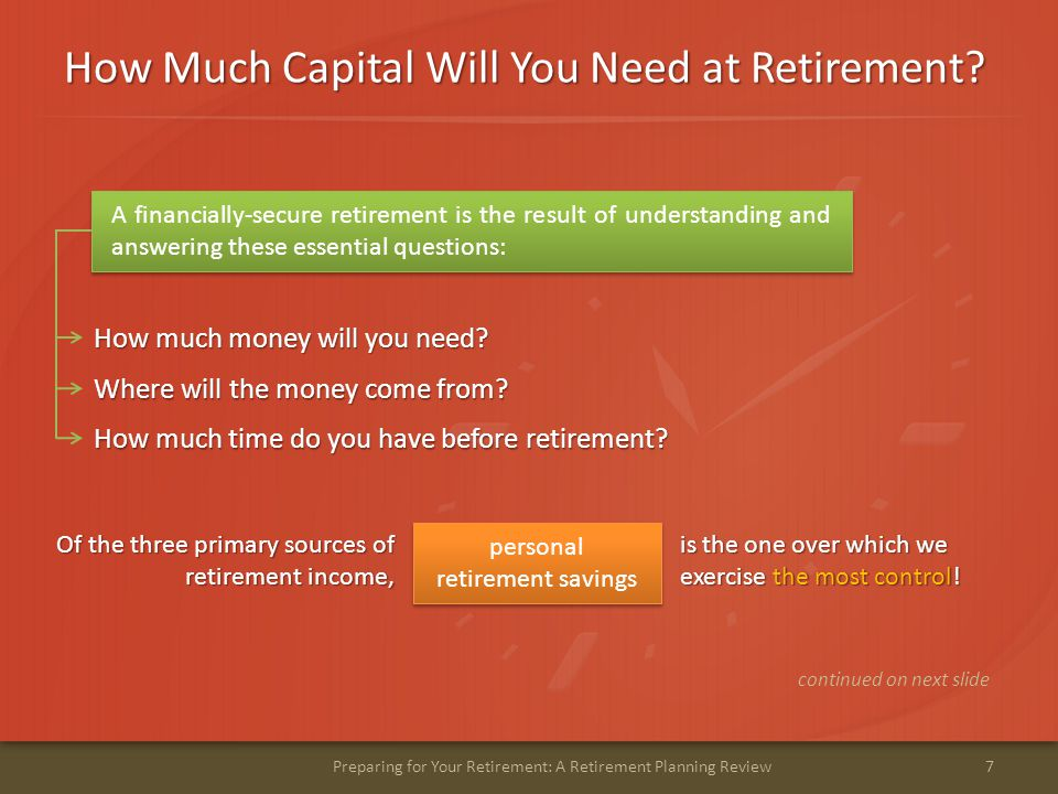 How Much Capital Will You Need at Retirement.