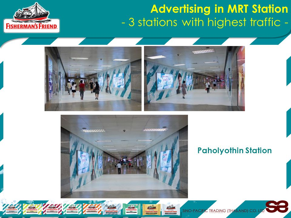 Advertising in MRT Station - 3 stations with highest traffic - Paholyothin Station