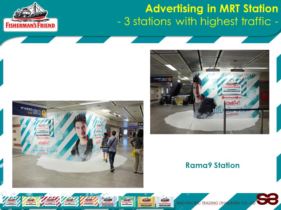 Advertising in MRT Station - 3 stations with highest traffic - Rama9 Station