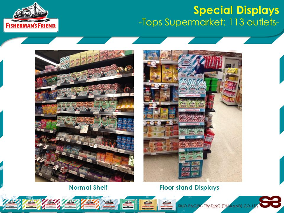 Special Displays -Tops Supermarket: 113 outlets- Normal Shelf Floor stand Displays