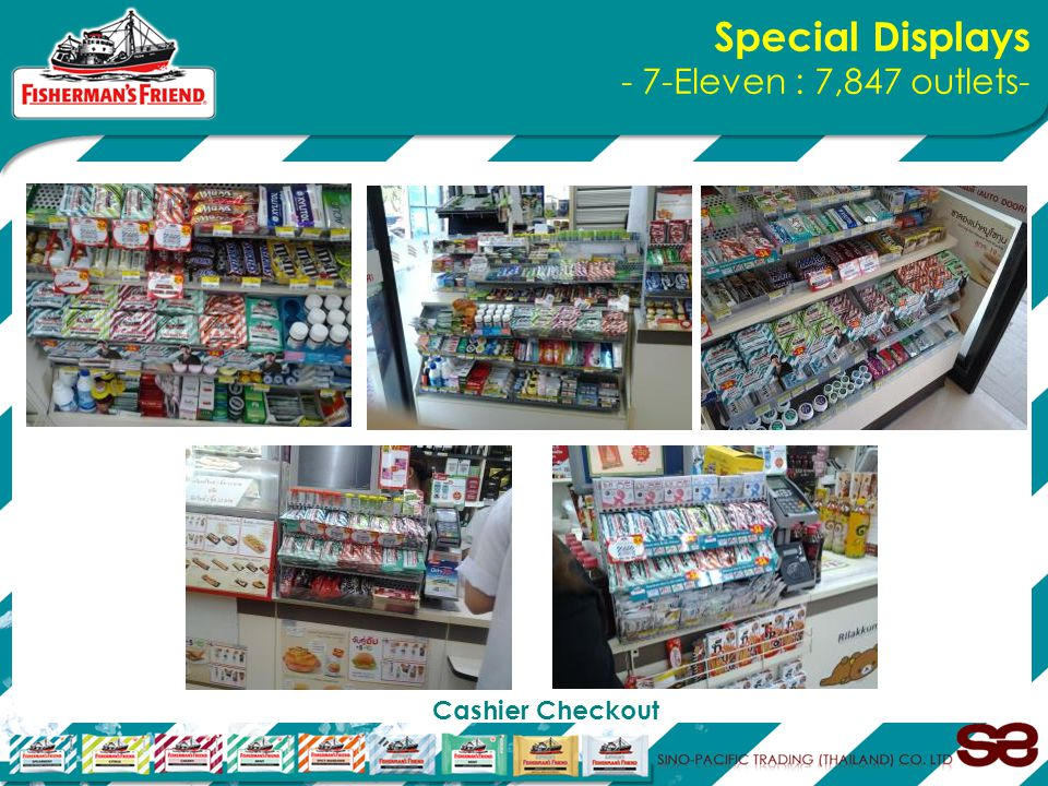 Special Displays - 7-Eleven : 7,847 outlets- Cashier Checkout