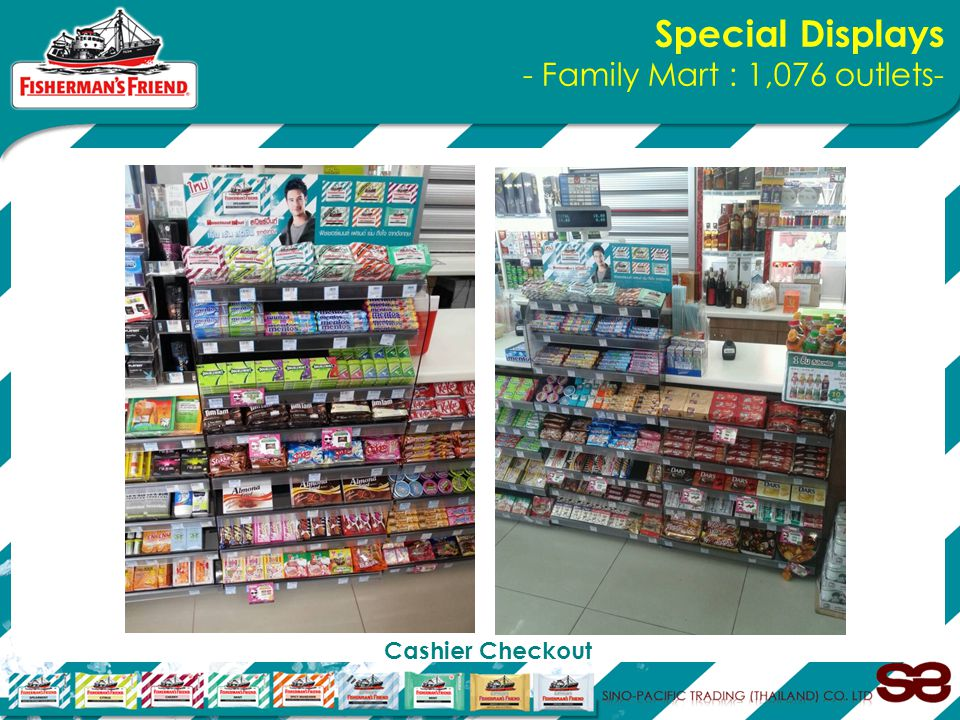 Special Displays - Family Mart : 1,076 outlets- Cashier Checkout