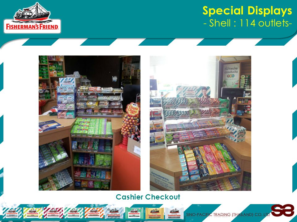 Special Displays - Shell : 114 outlets- Cashier Checkout