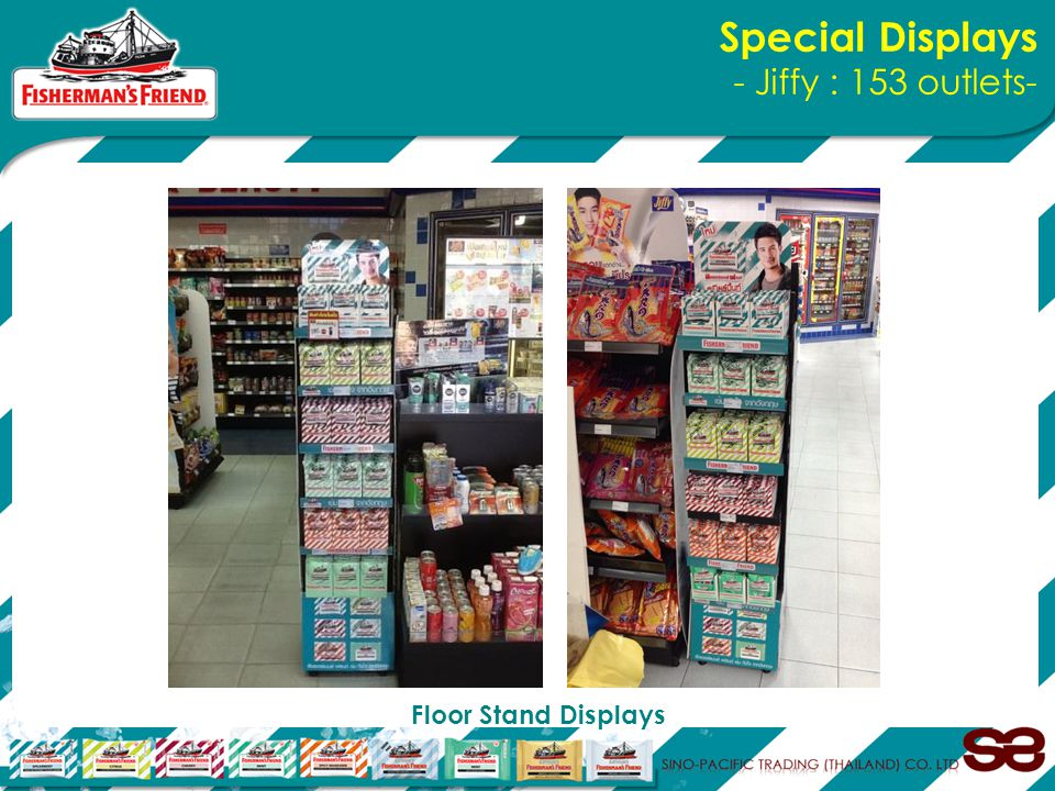 Special Displays - Jiffy : 153 outlets- Floor Stand Displays