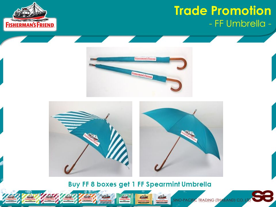 Trade Promotion - FF Umbrella - Buy FF 8 boxes get 1 FF Spearmint Umbrella