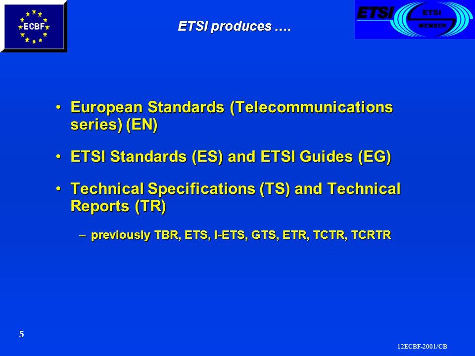 12ECBF-2001/CB 5 ETSI produces ….