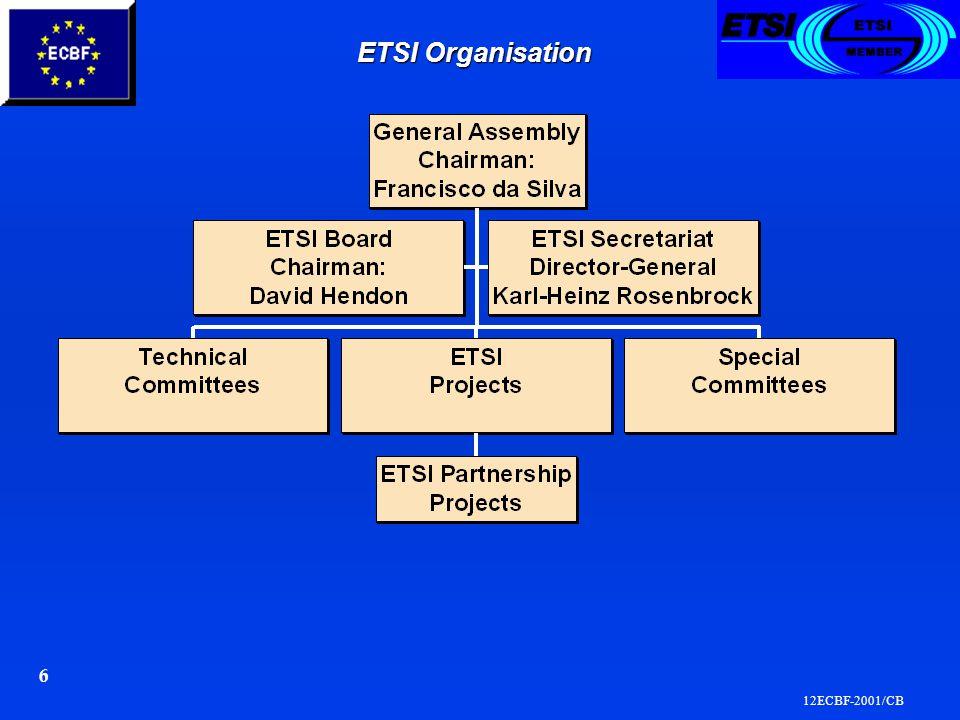 12ECBF-2001/CB 6 ETSI Organisation