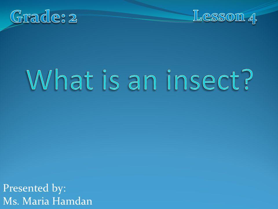 Presented by: Ms. Maria Hamdan