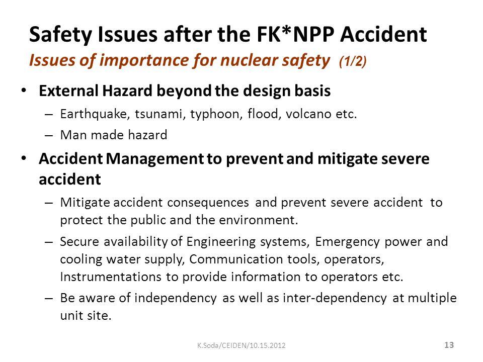 External Hazard beyond the design basis – Earthquake, tsunami, typhoon, flood, volcano etc.