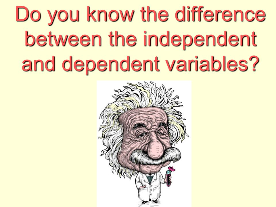 Do you know the difference between the independent and dependent variables?