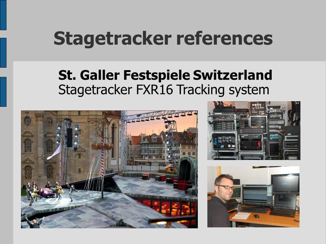 Stagetracker references St. Galler Festspiele Switzerland Stagetracker FXR16 Tracking system