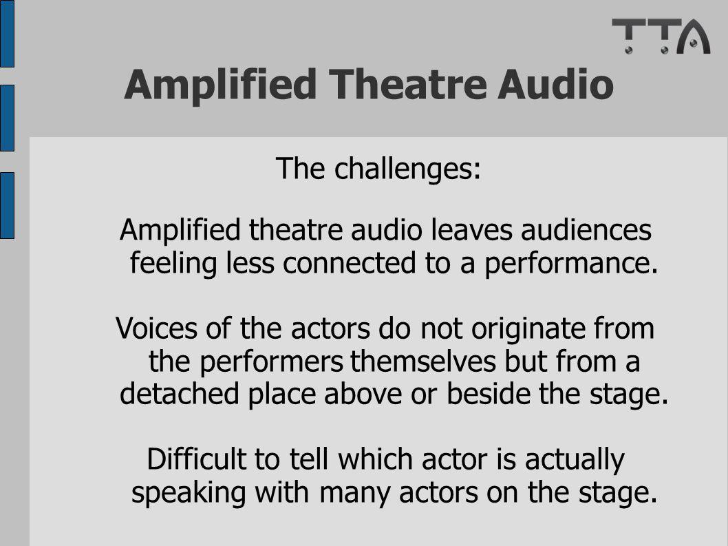 Amplified Theatre Audio