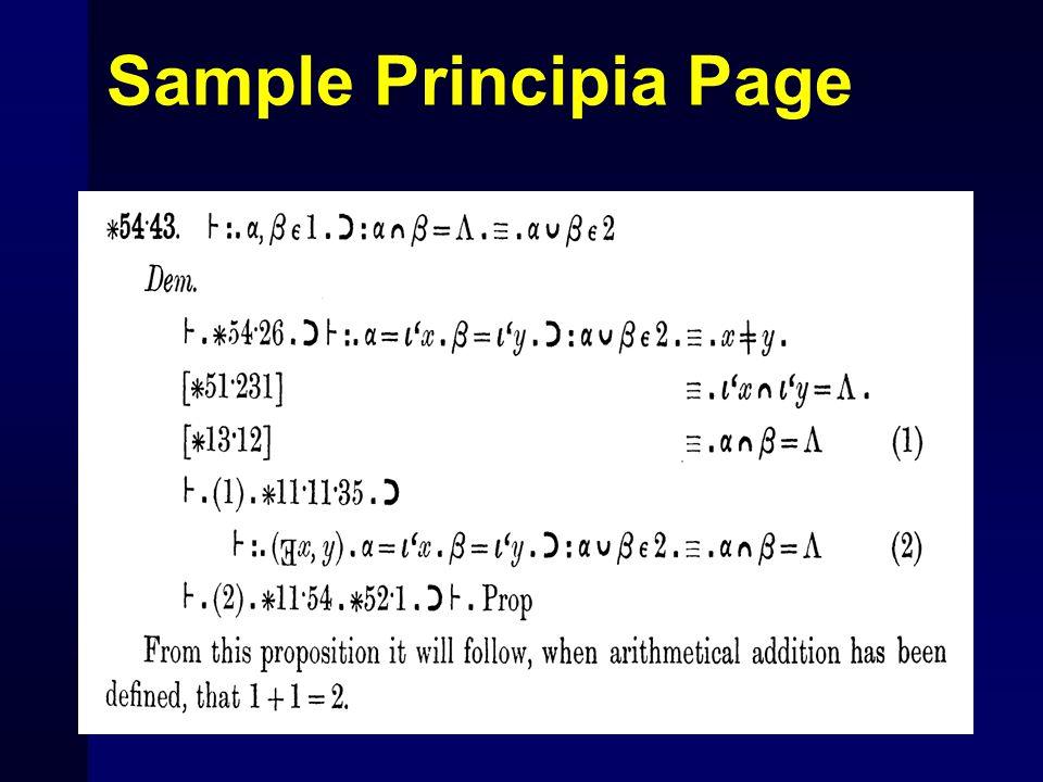 Sample Principia Page