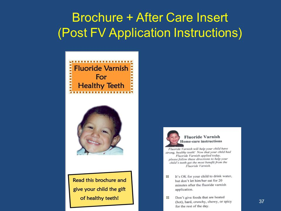 37 Brochure + After Care Insert (Post FV Application Instructions)