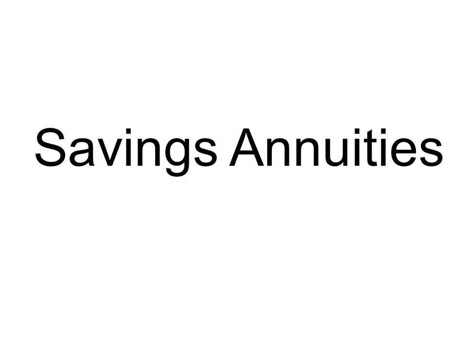 An annuity is where you make a series of periodic payments into an account.