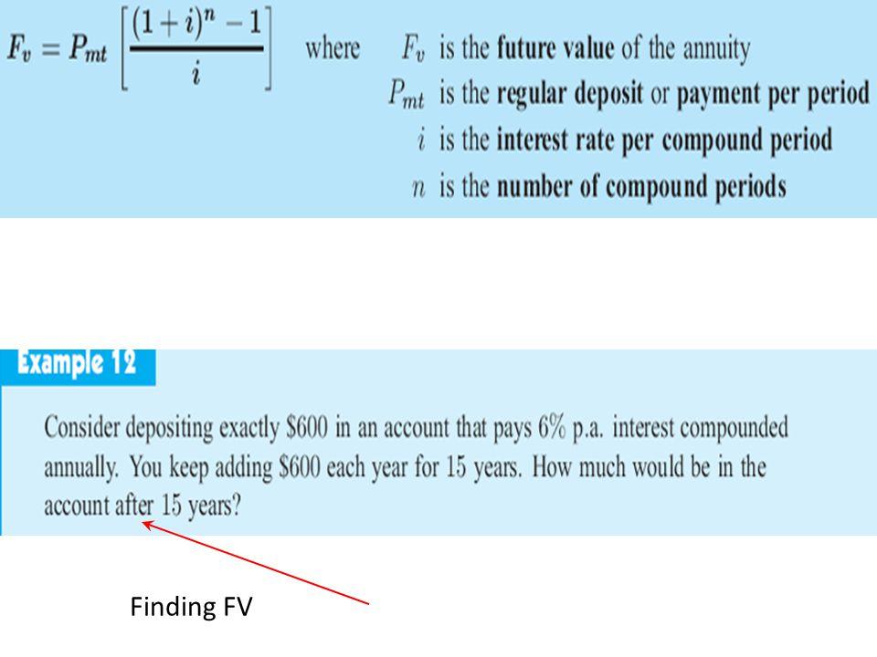 Finding FV