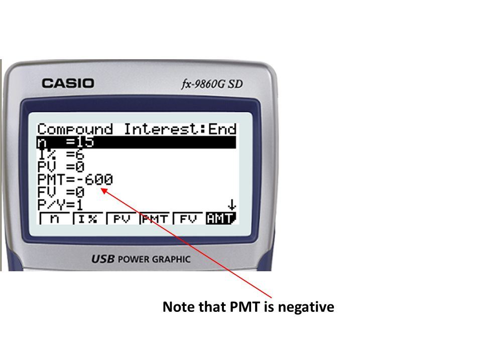 Note that PMT is negative