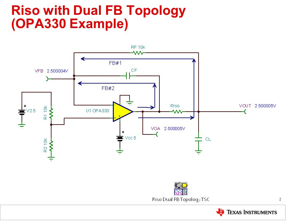 Riso with Dual FB Topology (OPA330 Example) 2