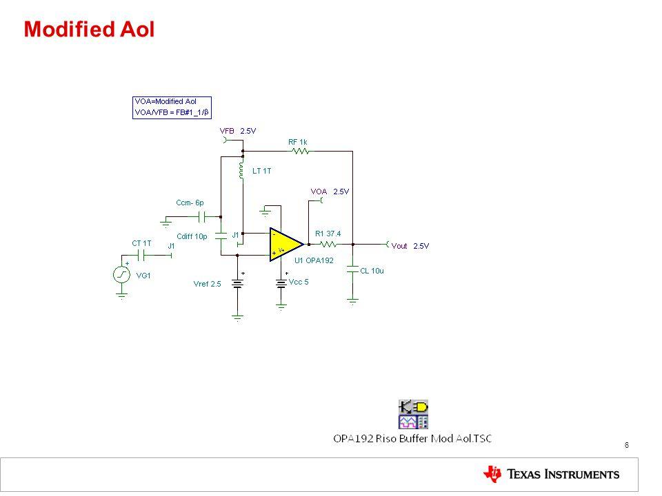 Modified Aol 6