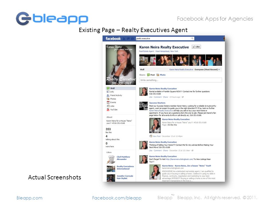 Concept Agents can, with a few clicks of their mouse, install the app to their Facebook page.