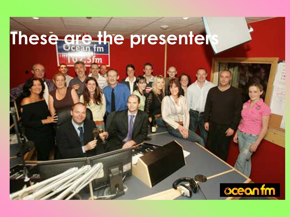 These are the presenters