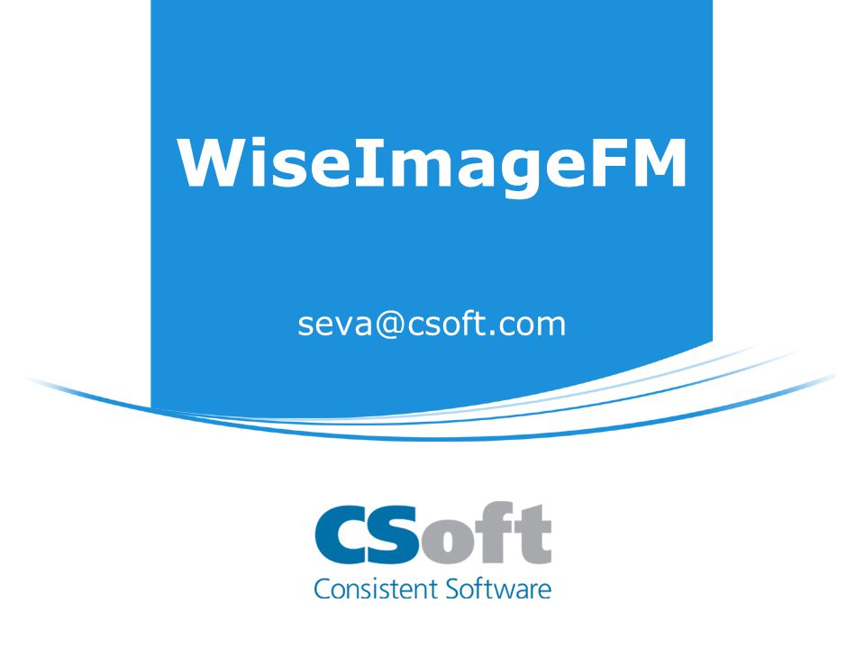 WiseImage FM WiseImage 11 + PlanTracer Engine + Automatic R2V (only for PT Engine) =