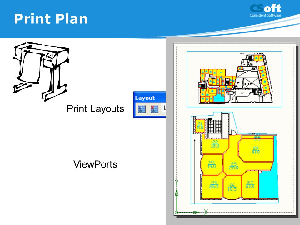 Print Plan Print Layouts ViewPorts