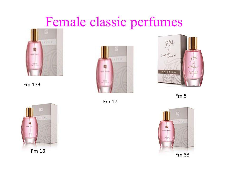 Female classic perfumes Fm 173 Fm 5 Fm 17 Fm 18 Fm 33
