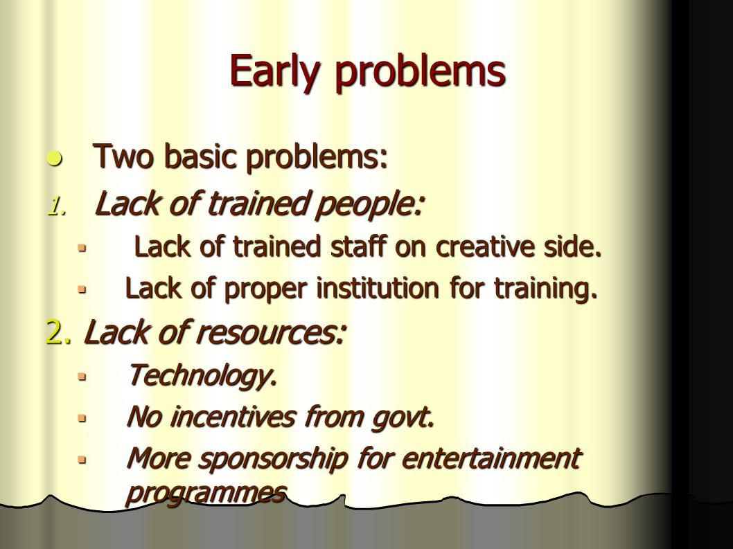 Early problems Two basic problems: Two basic problems: 1.