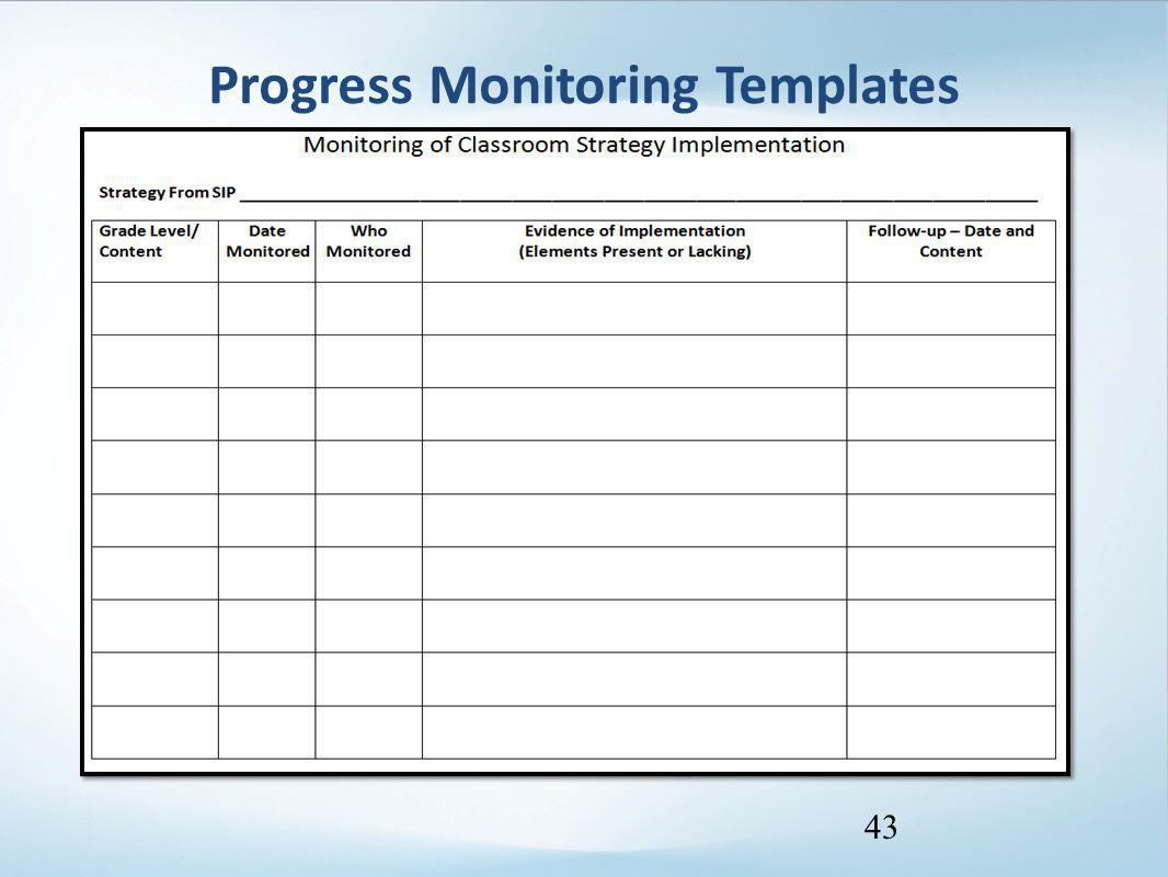 Progress Monitoring Templates 43
