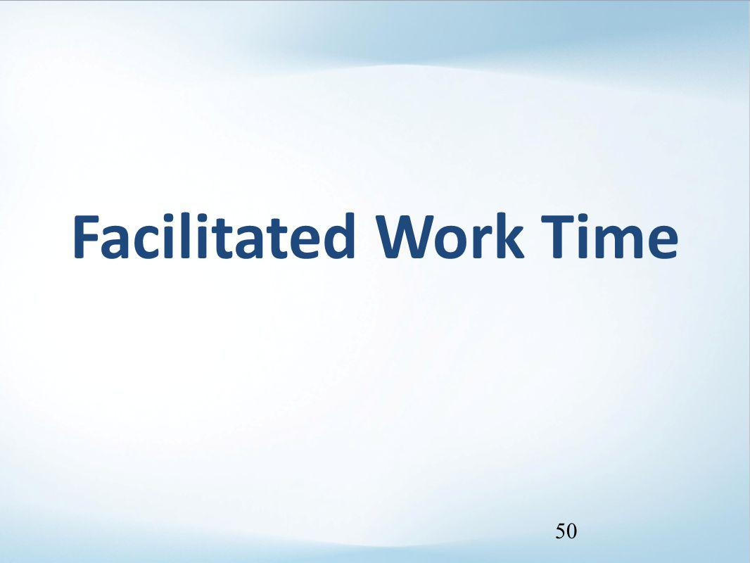 Facilitated Work Time 50