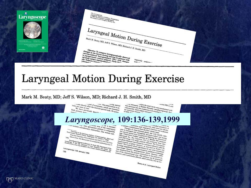 Laryngoscope, 109:136-139,1999