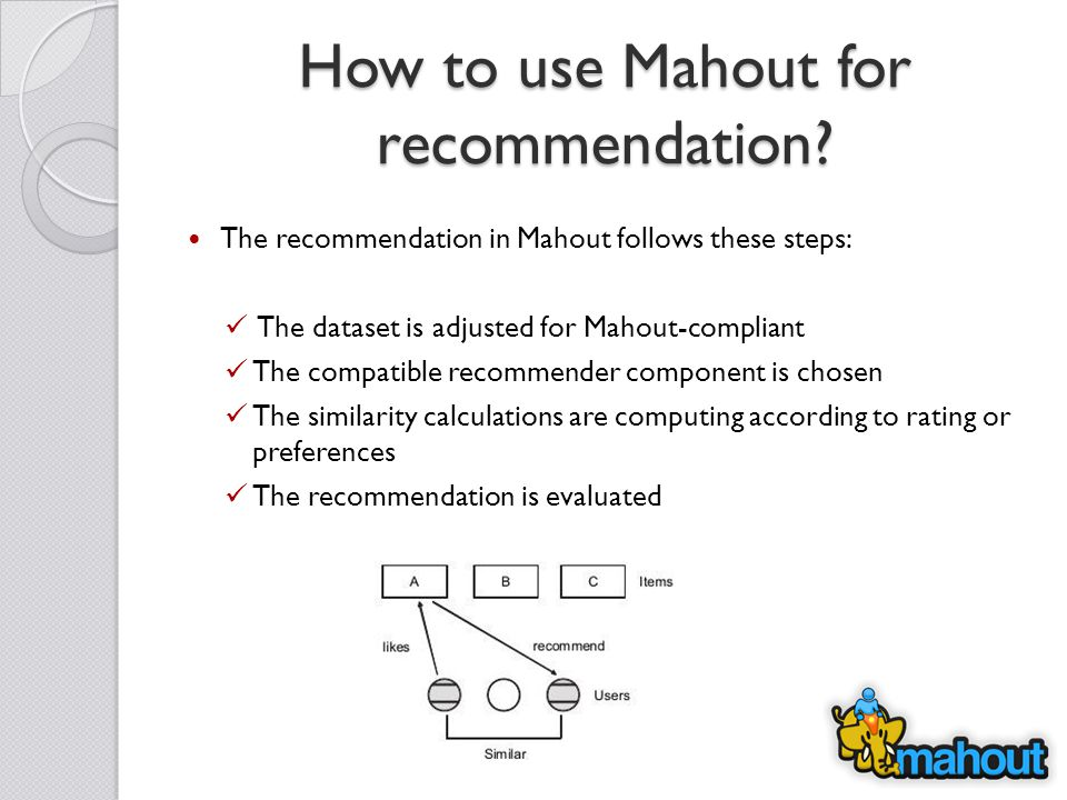 How to use Mahout for recommendation.