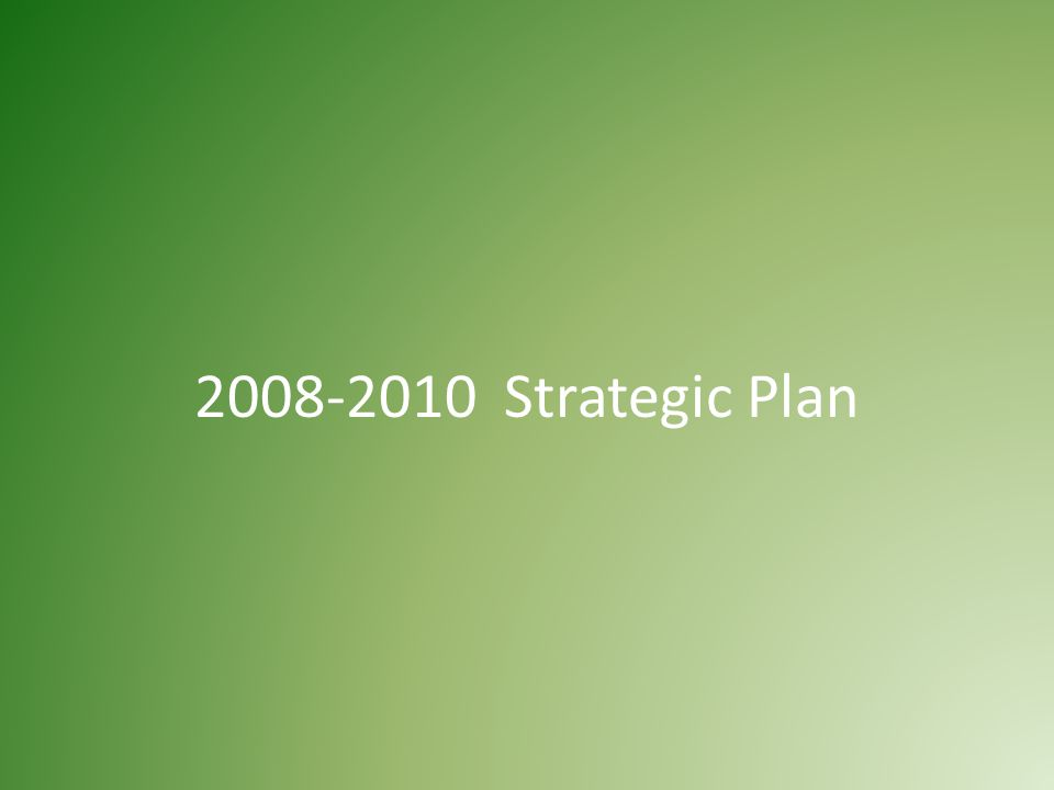 2008-2010 Strategic Plan