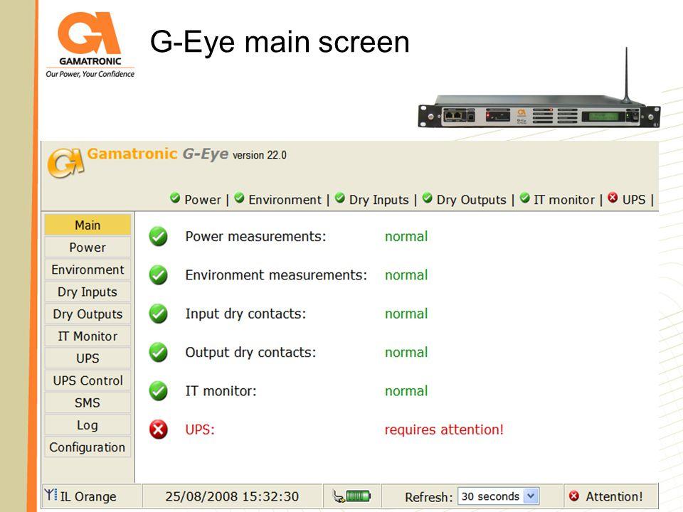 G-Eye main screen