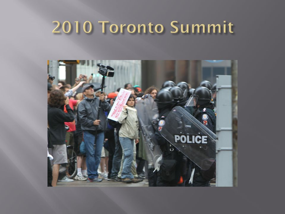 G-20 Summit Protests Belief that the G-20 members caused economic crisis Wealthy Nations v.