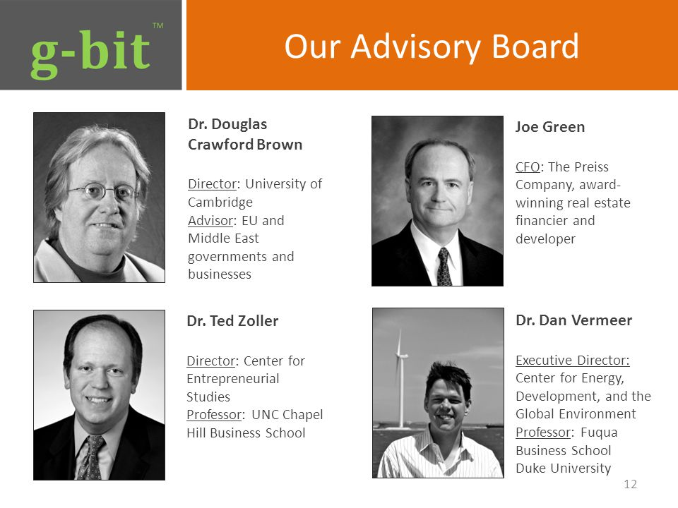Our Advisory Board Dr.