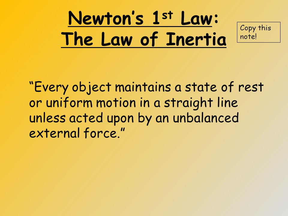 Newton's 3 rd Law Example Copy this note! +N +E - S -W Label Directions