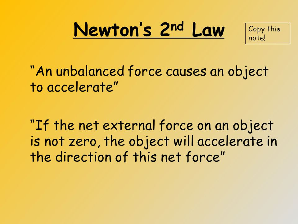 2 nd Law Worksheet Garfield #3 (cont`d) Copy this note!