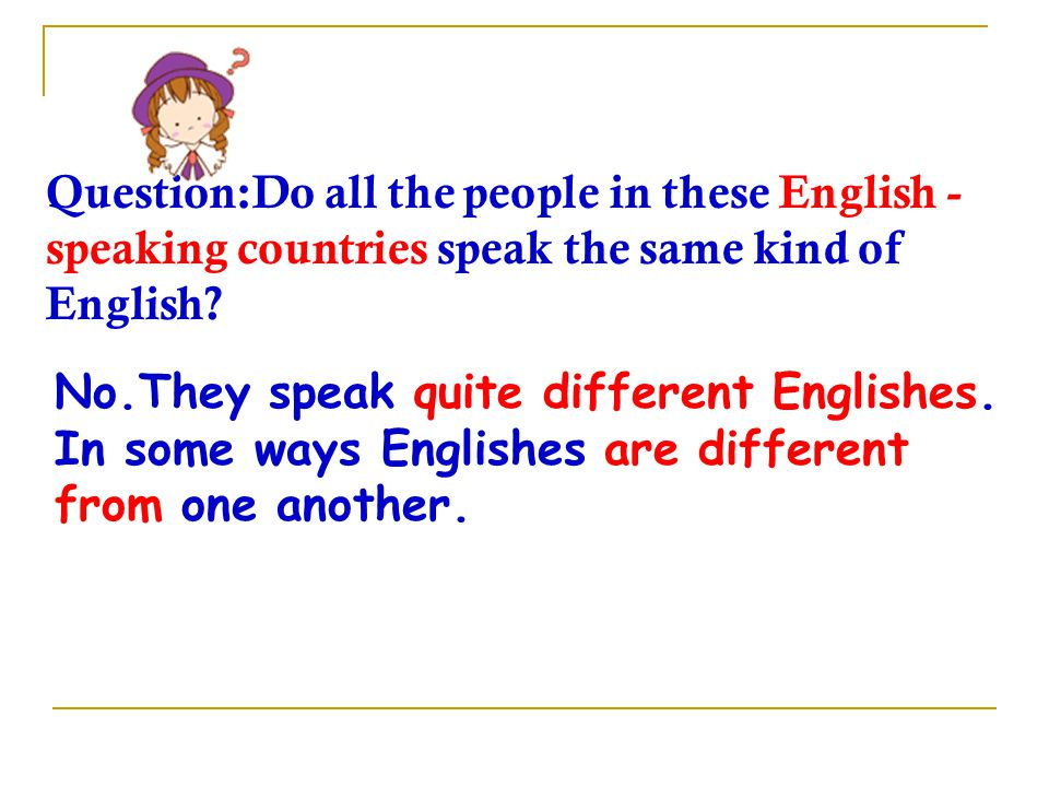 Questions 1. Which language do you think is the most widely used language in the world.